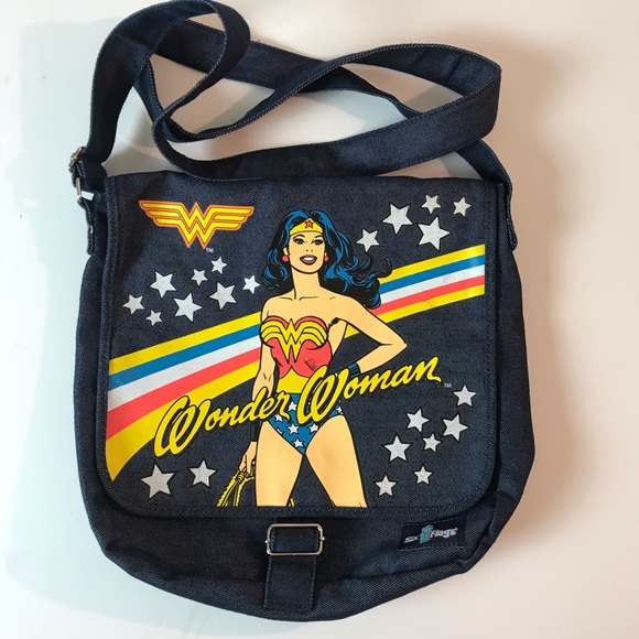 Six Flags Handbags - Wonder Women Denim Crossbody Bag